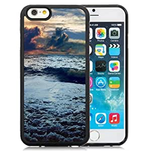 NEW Unique Custom Designed iPhone 6 4.7 Inch TPU Phone Case With Stormy Sea Waves_Black Phone Case