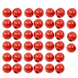uxcell 40 x 32mm Dia Moulded Threaded Handling Round Ball Knobs Red
