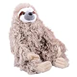 Toys : Wild Republic Three Toed Sloth Plush, Stuffed Animal, Plush Toy, Gifts for Kids, Cuddlekins 12 Inches