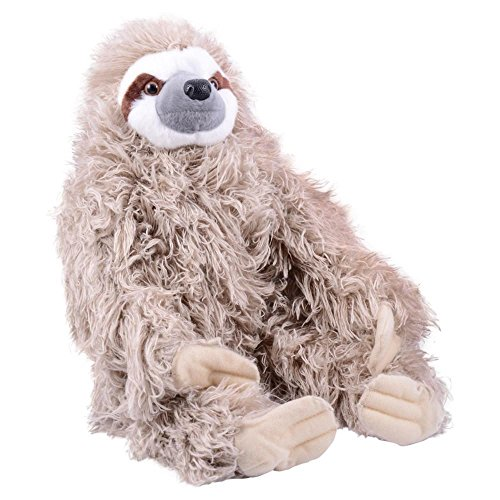 Wild Republic Three Toed Sloth Plush, Stuffed Animal, Plush Toy, Gifts for Kids, Cuddlekins 12 - It So Is Real