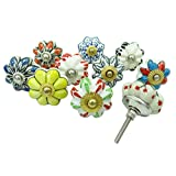 New Unique Cabinet Knobs Indian Ceramic Drawer Knob Multicolor Lot Of 10 Pcs