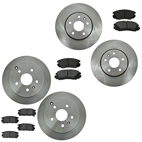 Front & Rear Ceramic Brake Pad & Rotor Set for Chevy Equinox Terrain