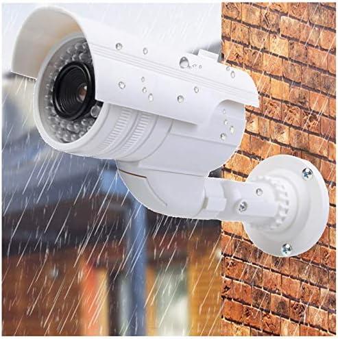 en carcasa resistente a la intemperie c/ámara de seguridad CCTV falsa para interior y exterior de alta calidad C/ámara falsa de vigilancia con LED parpadeante
