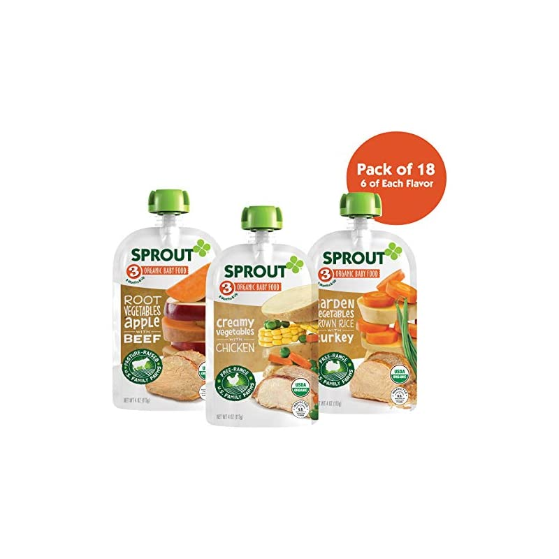 Sprout Organic Stage 3 Baby Food Pouches