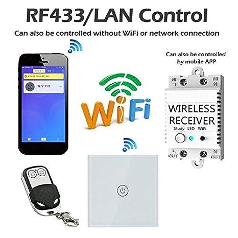 Calvas WIFI Smart Switch Monitor Wifi Voice-Activated Wireless