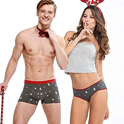 5ed4233c1f53 Amazon.com: [USA-Sales] Couples Matching Underwear Winter Holiday Design,  Set in Gift Packaging, Winter Holiday Theme (Custom Selection Contact  Seller): ...