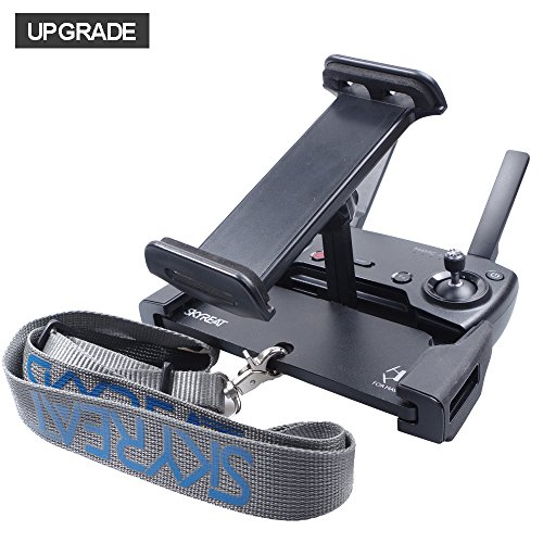 SKYREAT Upgrade Aluminum-Alloy 4-12 Inches Foldable Tablet Ipad Mount Holder with Metal Nut Ring for Mavic 2 Pro,Mavic 2 Zoom/Mavic Air/Pro / DJI Spark Remote Controller