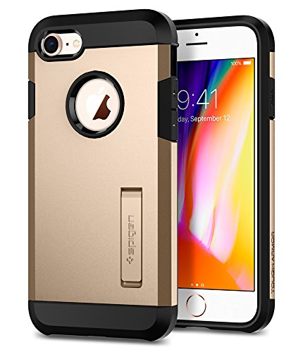 Spigen Tough Armor [2nd Generation] iPhone 8 Case/iPhone 7 Case with Kickstand and Heavy Duty Protection and Air Cushion Technology for Apple iPhone 8 (2017)/iPhone 7 (2016) - Champagne Gold