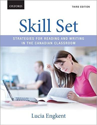 skill set strategies for reading and writing in the canadian classroom lucia engkent 9780199020133 books amazonca