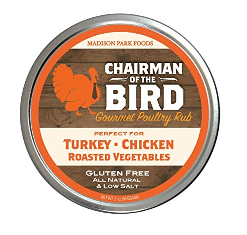 Chairman of the Bird Gourmet Holiday Seasoning Rub - Gluten Free, All Natural, Very Low Salt, 2oz