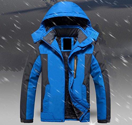 XJLAN Giacca Invernale da Uomo Giacca Invernale Impermeabile più Giacca di  Velluto Caldo Abbigliamento da Montagna Abbigliamento da Montagna 88c26bacd08