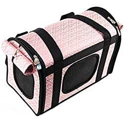 Lovely Shining Heart Dog Carrier Shoulder Bag Pink
