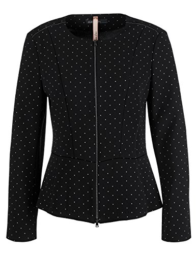 Marc Cain Additions, Chaqueta para Mujer Mehrfarbig (Black And White 910)