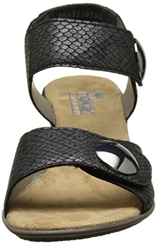Rieker 67369-45, Bout Abierto para Mujer Gris (Granit)