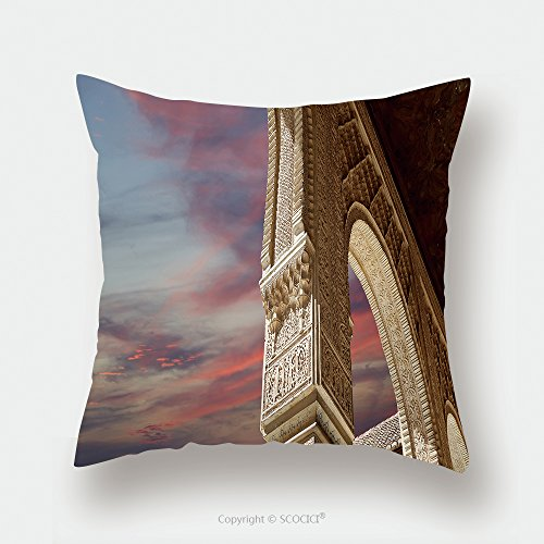 Custom Satin Pillowcase Protector Arches In Islamic Moorish Style In Alhambra Granada Spain 353542916 Pillow Case Covers Decorative by chaoran