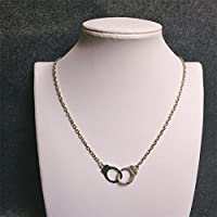 Fashion Jewelry Handcuffs Choker Pendant Necklace Women Valentines Day