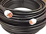 Custom Cable Connection Coaxial Cable LMR-400 Times Microwave N Male to N Male 175' Black (10355-175C)