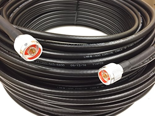 150ft N Male to N Male LMR400 Times Microwave Coax Antenna Cable by Custom Cable Connection
