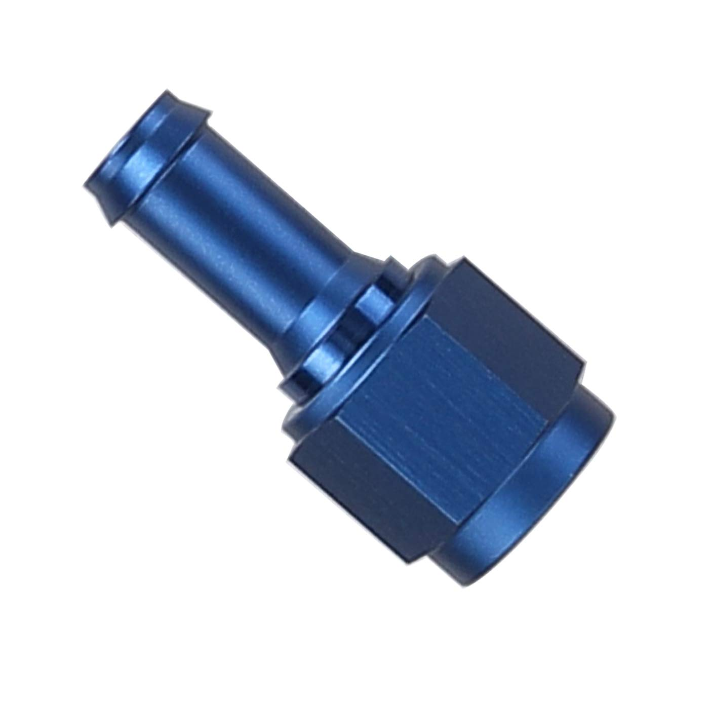 Blue Hose Barb Push On Fitting Barb Fuel Pipe Adapter Aluminum 45 Degree 3//4 NPT Male to 3//4 18.7mm