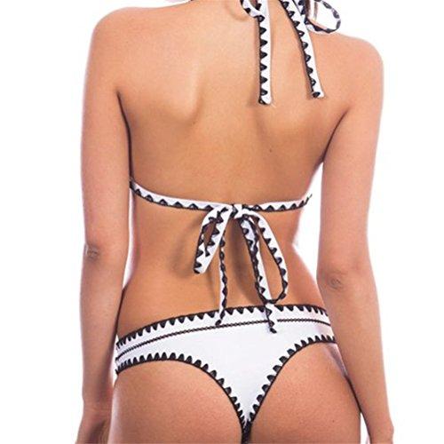 Blanc Rembourré Agrandissant Imprimé Femme De Up Bain Ensemble Maillot Oudan Deux A Bikini Sexy Push Pièces 9WIDH2E