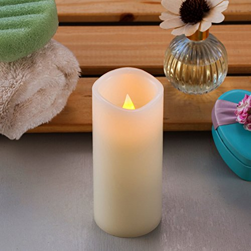 Enpornk Set of 12 Flameless Candles Battery Operated LED Pillar Real Wax Flickering Electric Unscented Candles with Remote Control Cycling 24 Hours Timer, Ivory Color by Enpornk (Image #4)