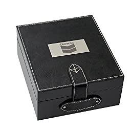 Black DVD/Blu-Ray Box with Leather Top