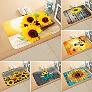 GoodKE New Home Bedroom Doormat Floor Soft Non-slip Sunflower Mat Rug Carpets Shoulder Bags