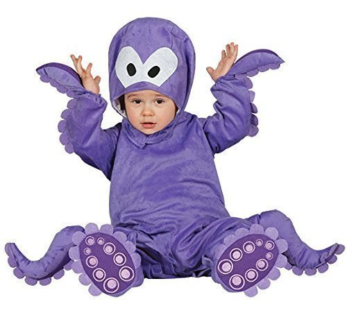 Baby Girls Boys Purple Octopus Sea Creature Fancy Dress Costume Outfit 6-12-24 Months (6-12 Months)