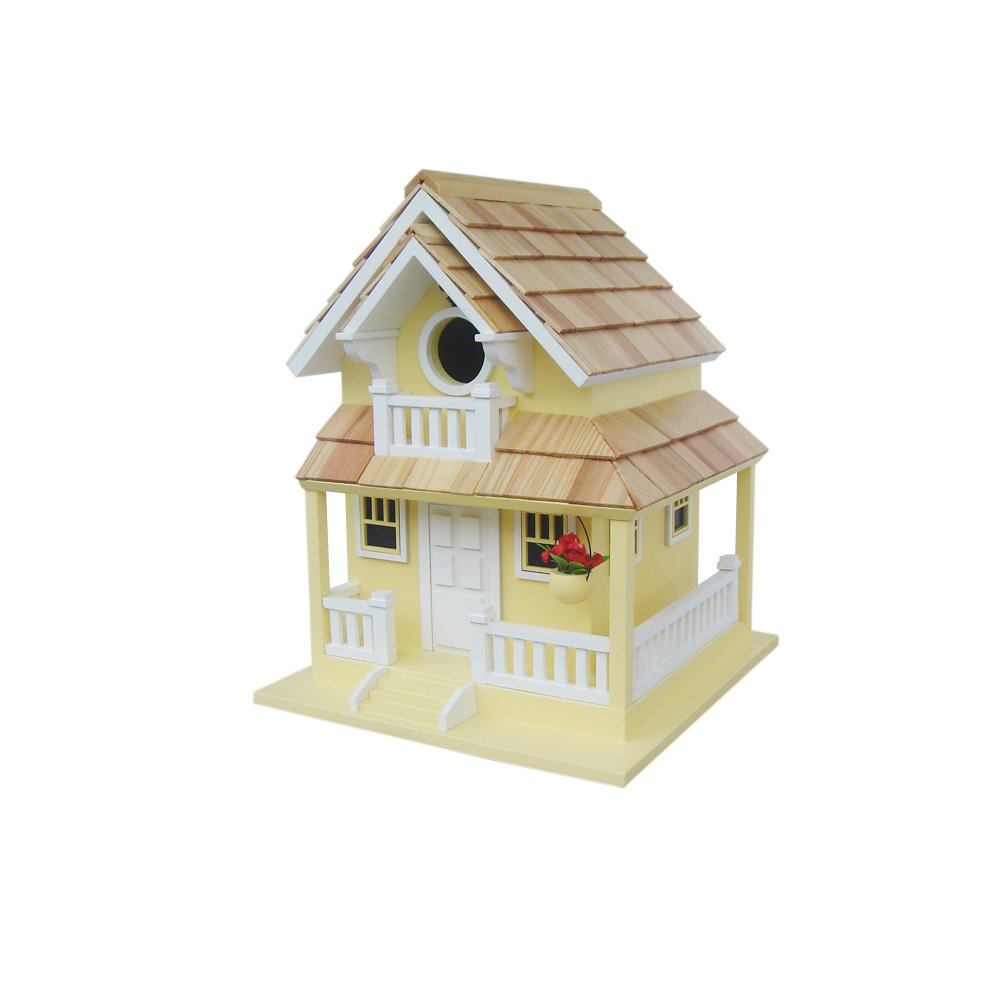 Home Bazaar Backyard Bird Cottage, Yellow