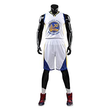 NBA 30# Warriors Jersey Ropa De Bordado De Baloncesto Masculino Ropa De Entrenamiento Ropa Deportiva Al Aire Libre,White,3XL: Amazon.es: Deportes y aire ...