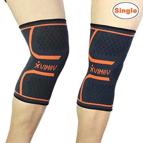 Running Knee Sleeve - Compression Sleeve for Basketball, Jogging, Knee Pain Relief, Arthritis and Injury Recovery - Single, S