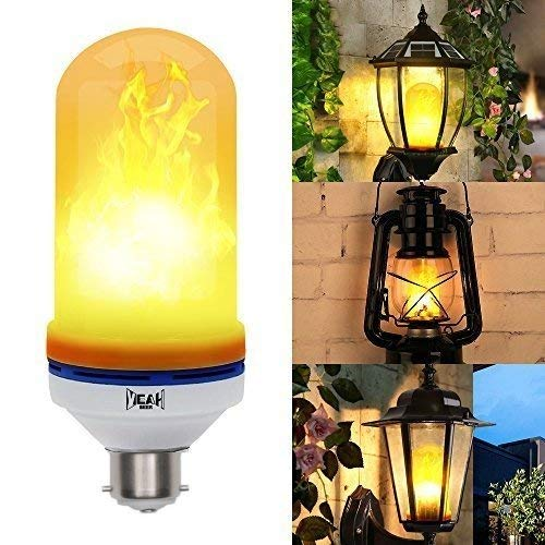 PragAart LED Flame Effect Bulb B22-1300K Color Decoration Light LED Bulbs at amazon