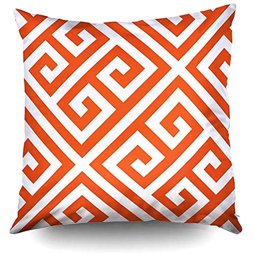 Halloween DIY Greek Key Pattern Custom Decorative Throw Pillow Case 18X18Inch,Home Decoration Pillowcase Zippered Pillow Covers Cushion Cover with Words for Book Lover Worm Sofa Couch for $<!--$10.78-->