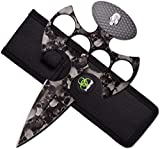 Z-Hunter Fixed Blade, 7.1in, Stainless Steel Blade, Gray Nylon Fiber Handle, ZB-043GY