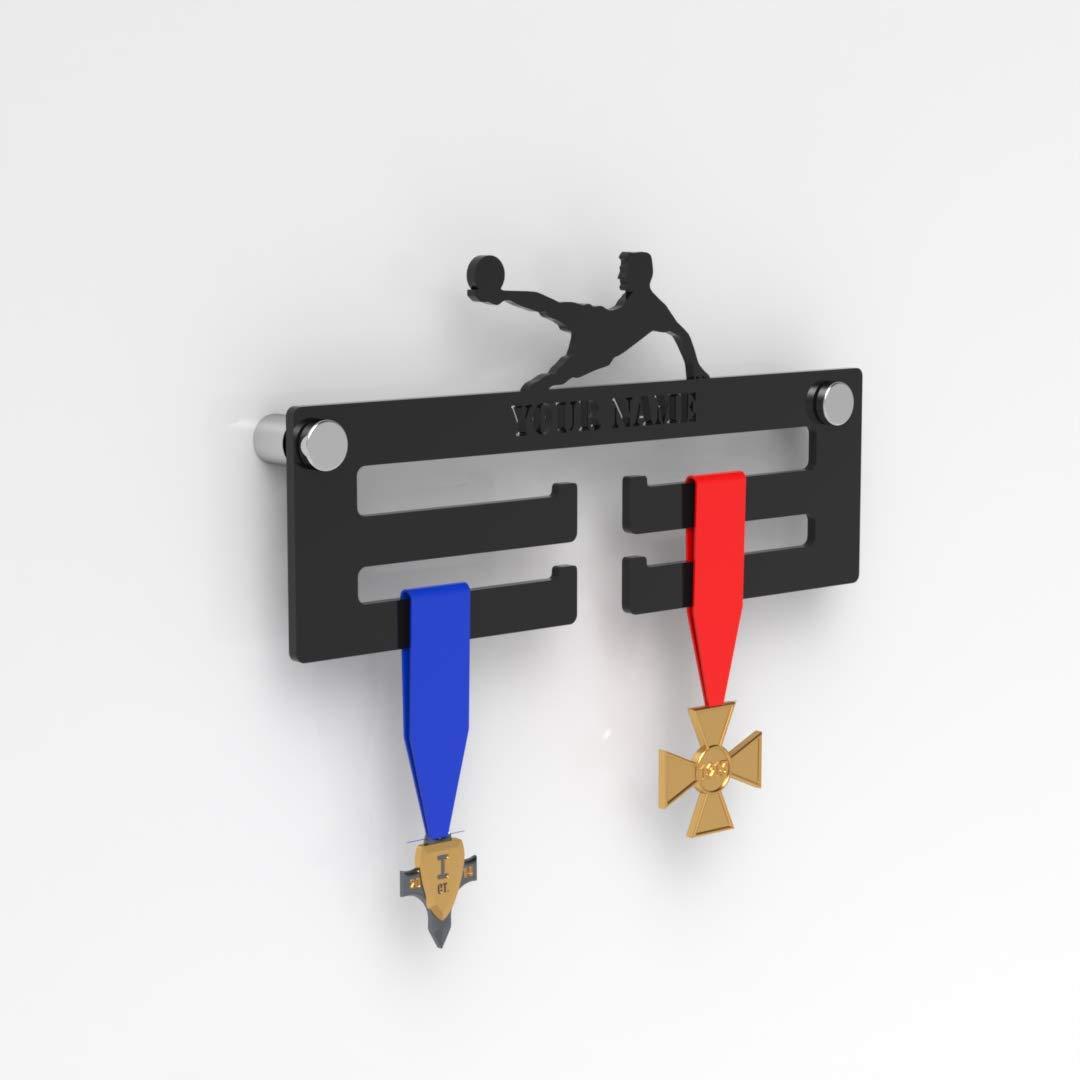 Plexico - Percha para medallas de fútbol (acrílico), Color Negro ...