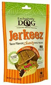 Exclusively Dog Jerkeez Taco Flavor Pet Treat