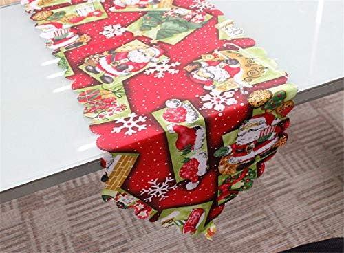 PUBMIND Camino de Mesa de Navidad Santa Claus Mantel de Cena para ...