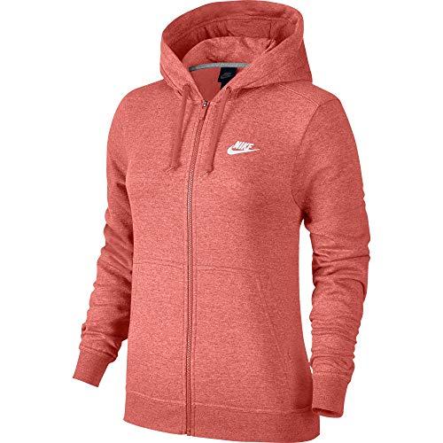 ar Full Zip Fleece Hoodie Sunblush Heather/White 853930-655-Size Large ()