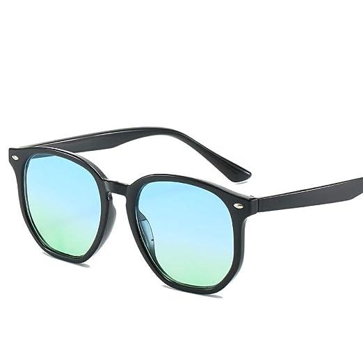 Yangjing-hl Gafas de Sol con bisagra de Metal Poligonal ...