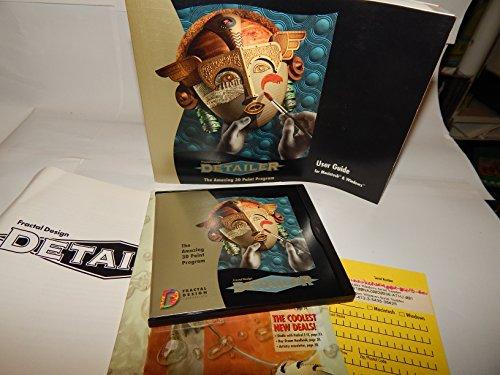 Fractal Design DETAILER Amazing 3D Paint Program Windows 95 - NT ~ Amazing 3D Paint Program by Fractal