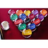"""Epco Premium Quality, American Made, Clear-Hobbit Style Billiard or Pool Set, with 4.2oz, 2.25"""" diam balls"""