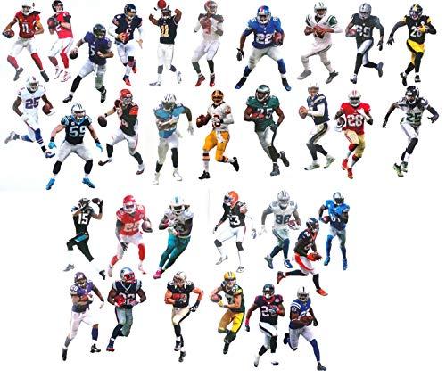 - Complete Set of 32 NFL Player Mini FATHEAD Vinyl Wall Graphics - 7