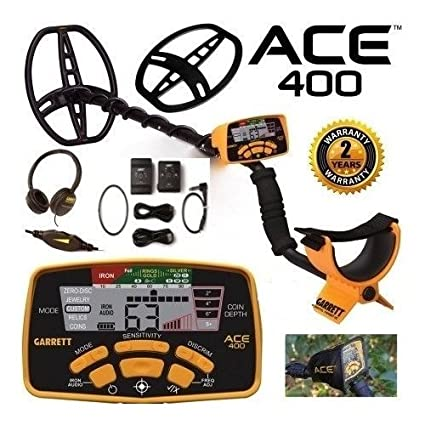 Amazon.com : Garrett Ace 400 Metal Detector Z-Lynk Package Special with Free Accessories : Garden & Outdoor
