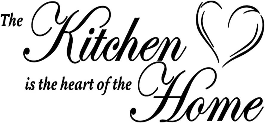 The Kitchen is The Heart of The Home Vinyl Wall Decal Art Letters Kitchen Decals Home Decor