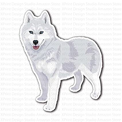 White Siberian Husky Dog Sticker