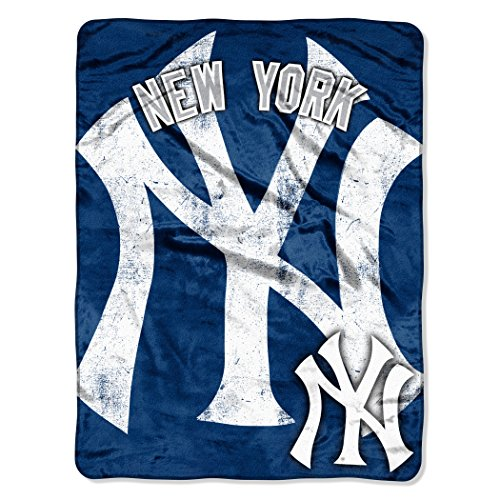 Officially Licensed MLB New York Yankees Triple Play Micro Raschel Throw Blanket, 46