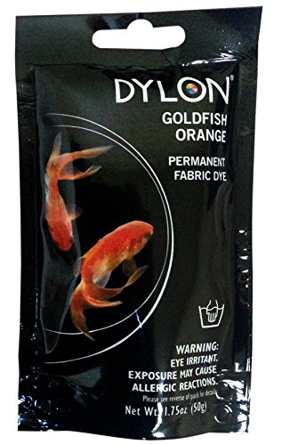 Dylon Permanent Fabric Dye -Goldfish Orange, 1.75 Ounce