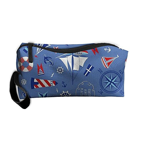 Sailboat Anchor Ship Floral Elastic Anti-bacterial Wear Resistance Cosmetic Bag For Children Makeup Bag Accessories Pouch Pencil Case Hotel (Rack Sailboat)