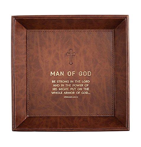 Man of God - Tabletop Tray, 8.5'' x 8.5'' H. by AT001