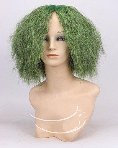 Fashion wigstyle Cosplay Pelucas DC Comics bate hombre verde corto rizado pelucas de disfraces para hombres